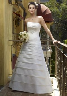 pleated a line gown