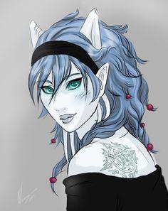 World of Warcraft female Draenei fan art.