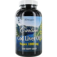 Carlson Super 1000mg Cod Liver Oil, 250 Softgels by Carlson. $19.04. The oil is separated from the liver tissues without the use of chemicals.. Free of detrimental levels of mercury, cadmium, lead, PCB's and 28 other contaminants.. Super 1000mg provides 300% more cod liver oil than other soft gels.. Determined to be fresh and fully potent. Super 1000mg Cod Liver OilFrom the deep, unpolluted waters near Norway, Carlson bring you the finest cod liver oil which is n...