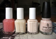 Sheer and nude polishes