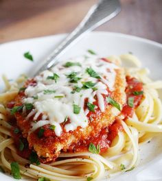 Simple Baked Chicken Parmesan recipe...followed the gist of the recipe and it was good!