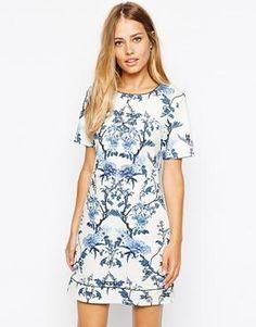Oasis Botanical Shift Dress