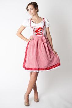 Dirndl Stefanie, rot/weiß - Online Shop Ludwig und Therese