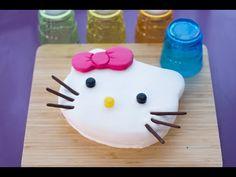 Gâteau Hello Kitty facile et mignon (décoration en pâte à sucre) - YouTube