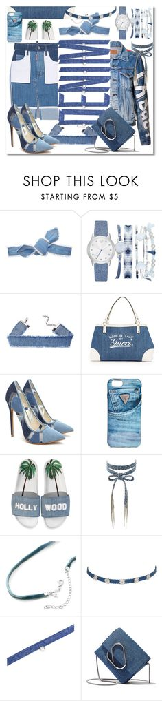 """denim"" by ilona828 ❤ liked on Polyvore featuring Colette Malouf, A.X.N.Y., GUESS, Joshua's, Chan Luu, Jet Set Candy, nOir, 3.1 Phillip Lim, StreetStyle and denim"