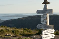 Cadillac Mountain - West Side - Acadia National Park - panneaux