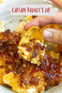 Captain Rodney's Dip is the ultimate party food. This outrageously good dip recipe is what every party, tailgate, and cookout needs! # Easy Recipes snacks 💥Captain Rodney's Dip anyone? Appetizer Dips, Yummy Appetizers, Appetizers For Party, Dip Recipes For Parties, Easy Party Dips, Best Party Dip, Tailgate Appetizers, Party Recipes, Cake Recipes