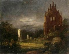 Carl Gustav Carus' convent ruins in the moonlight  1817