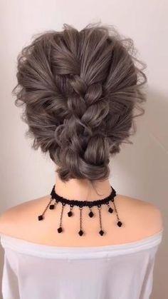Hair Tutorials For Medium Hair, Up Dos For Medium Hair, Updos For Medium Length Hair Tutorial, Hairstyle Tutorials, Simple Buns For Medium Hair, Easy Updo For Work, Medium Length Hair Braids, Easy Hair Tutorials, Medium Long Hair