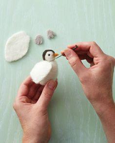 Needle Felting Tutorial / Penguin