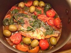 Filetes de Pescado con Aceitunas y Tomatitos