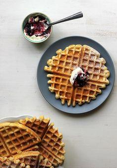 confectionerybliss:  Vanilla Sour Cream Waffles | The Sugar Hit