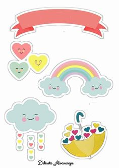 Printable Stickers, Planner Stickers, Free Printable, Hot Air Balloon Craft For Kids, Mulan 3, Cloud Party, Purple Balloons, Crochet Shoulder Bags, Unicorn Cake Topper