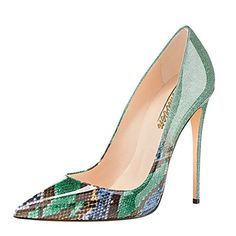 Modemoven Women's Green Snake Skin Pointy Toe High Heels Slip On Stilettos Large Size Wedding Party Evening Pumps Shoes 9 M US... Modemoven Womens Sexy Pumps for Women Wedding Party Evening Heels 1.Shipping method:USPS(5-10days),except fulfilled by Amazon. 2.Weight:0.5kg-0.9kg 3.Each pair shoes were packed by a cute and protective box. 4.Standard US SIZE, you can choose your normal size,wide feet choose one or half size......http://bit.ly/2ssfJuZ