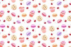Dessert drawings collection by katya.bogina on Creative Market