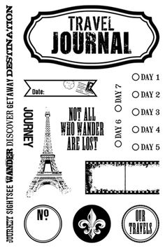 Teresa Collins - World Traveler Collection - Clear Acrylic Stamps - World Traveler at Scrapbook.com $7.99