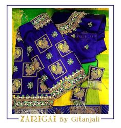 Zarigai By Gitanjali Cutwork Blouse Designs, Netted Blouse Designs, Wedding Saree Blouse Designs, Best Blouse Designs, Simple Blouse Designs, Stylish Blouse Design, Blouse Neck Designs, Saree Wedding, Samba