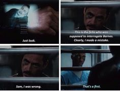Tony does admit when he's wrong - and as soon as he finds out he is, he sets out to make things right. He knows he was right about the bigger moral issue of accountability - but was wrong about Bucky being the Vienna assassin. He's in grave danger going to the Raft, but risks it anyway. <-Aka when I wanted to be cautiously optimistic