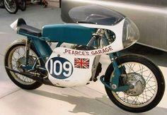 Vintage Greeves Silverstone Racer Motorcycle