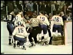 1967 Stanley Cup Finals Highlights - Toronto vs Chicago  New York vs Montreal  then Toronto vs Montreal - no helmets, only Terry Sawchuk wears a goalie mask!