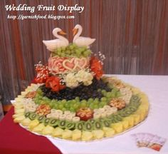 wedding fruit buffet