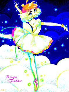 Princess Tutu / Ahiru / Strangely, neon seems to really work well with her...