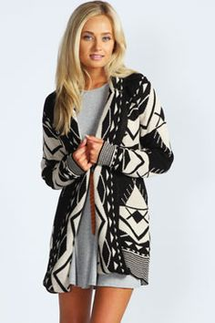 I'd love this in the red!  Sophie Aztec Cardigan at boohoo.com