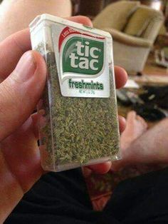 How's this for an idea, pre-grind your herb and place it in a tic tac box. This idea comes from Cheech Marin and Tommy Chong. Come follow us at Effects of Weed! We will share the best of pins and love to pac a bowl with you