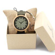 Bamboo Watch in Nylon strap //Price: $36.43 & FREE Shipping //     #beautiful