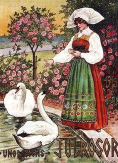 Jenny Nyström (1854-1946): ungdomens julrosor, 1915 Carl Larsson, Printable Pictures, Decoupage Paper, Colorful Paintings, Illustrations Posters, Sweden, Scandinavian, Fine Art, Painters
