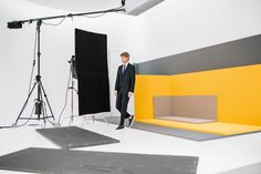 Bright color forms the backdrop for the BOSS Menswear Fall/Winter 2016 lookbook