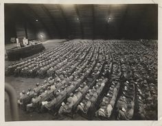 Rosh Hashanah Evening    Title: Rosh Hashanah Evening    Description: Servicemen of the 20th Air Force stationed in Guam during WWII participate in a Rosh Hashanah service.    Creator/Photographer: unknown    Date: circa 1945    Medium: Black and white photograph    Repository: American Jewish Historical Society    Parent Collection: Papers of David Cedarbaum    Call Number: P-914 (aa-p914-008)    Rights Information: No known copyright restrictions; may be subject to third party rights. For ...