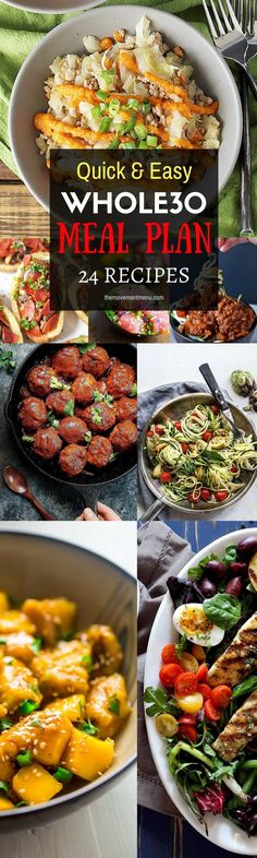 A Whole30 meal plan that's quick and healthy! Whole30 recipes just for you. Best Trader Joe's shopping list. Whole30 meal planning. Whole30 meal prep. Healthy paleo meals. Healthy Whole30 recipes. Easy Whole30 recipes.