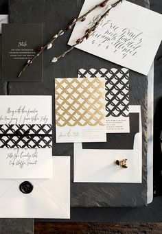 letterpress wedding invitations by hello tenfold   photography by lissa gotwals   styling by michelle smith   envelope calligraphy by layers of loveliness