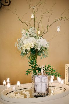 wedding centerpiece idea; photo: Angela Shae Photography