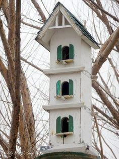 3 story birdhouse