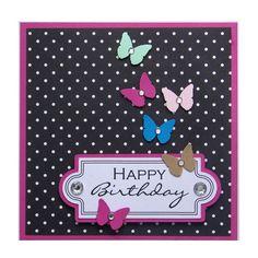 Handmade Butterflies Birthday Card £1.80
