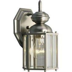 Progress Lighting Brassguard Collection 1 Light Brushed Nickel Wall Lantern   eBay