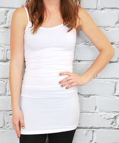 Look what I found on #zulily! White Extra-Long Camisole - Plus #zulilyfinds