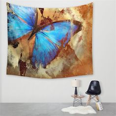 This is a beautiful Butterfly Tapestry. This Tapestry is an awesome centerpiece for any space, you can use it as a tablecloth or picnic blanket as well! Bohemian Tapestry, Mandala Tapestry, Wall Tapestry, Colorful Tapestry, Tapestry Bedroom, Boho, Butterfly Design, Butterfly Wall, Beautiful Butterflies