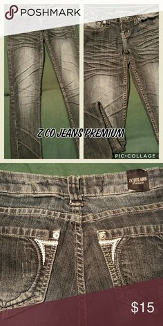 ZCO SKINNEY JEANS MAKE THESE A PART OF YOUR CLOSET!!!!   All of my items are in excellent condition.  Smoke and pet free clothing !  Size 5 31 inseam   65% Cotton  33% Polyester  2% Spandex ZCO Jeans Skinny