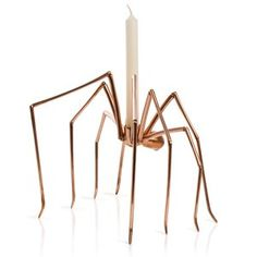 Spider Candleholder by Stuart Richards.  Silly expensive on my budget, but the shadows would be well creepy.