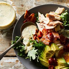 """""""I love you!"""" the Cobb salad says to the ranch dressing."""