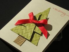 Learn how to make a BIGGER Christmas tree using the tree punch and some embossing folders. Supply list and ordering information at http://qbeesquest.blogspot...