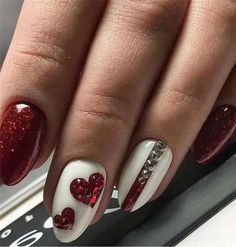 Best Nail Art - 35 Amazing Nails for 2019 Are you looking for the Best Nail Art? Today we have some of the best nail art featuring 35 amazing nails for Red Nail Art, Fall Nail Art, Pink Nails, Black Nail, Beautiful Nail Art, Gorgeous Nails, Amazing Nails, Amazing Art, Valentine's Day Nail Designs