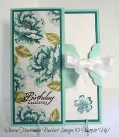 """Lovely """"Glittered Stippled Blossoms"""" Birthday Card...Sharon Hashimoto Burkert: As the Ink Dries - Stampin' Up!"""