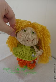 Человечки ручной работы. Ярмарка Мастеров - ручная работа Ляля. Handmade.  #LittleOwlsHut, #Pertseva, #Doll, #CrochetPattern, #Amigurumi, #Princess