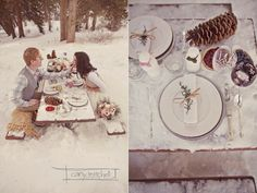 "Winter ""outside of the traditional wedding box"" inspiration Snowy Wedding, New Years Wedding, Spring Wedding, Dream Wedding, Wedding Picnic, Wedding Stuff, Winter Proposal, Boho Deco, Winter Wedding Inspiration"