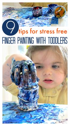 Great tips for parents a little afraid of messy art. Finger painting doesn't have to end in a huge mess!