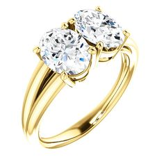 2.0 Ct Oval Ring 14k Yellow Gold – Goldia.com